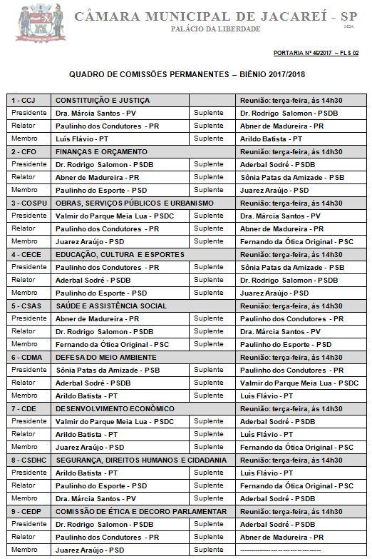 COMISSÕES 2017-2018