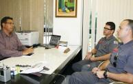 Arildo Batista faz reunião com comandante do Corpo de Bombeiros de Jacareí