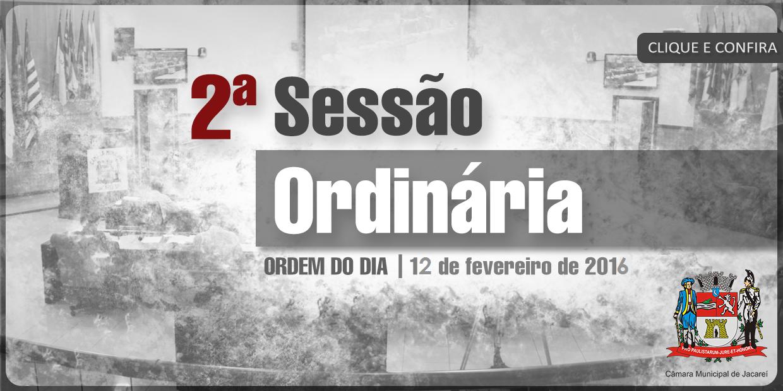 2ª SO - 12-02-15 - Ordem do Dia