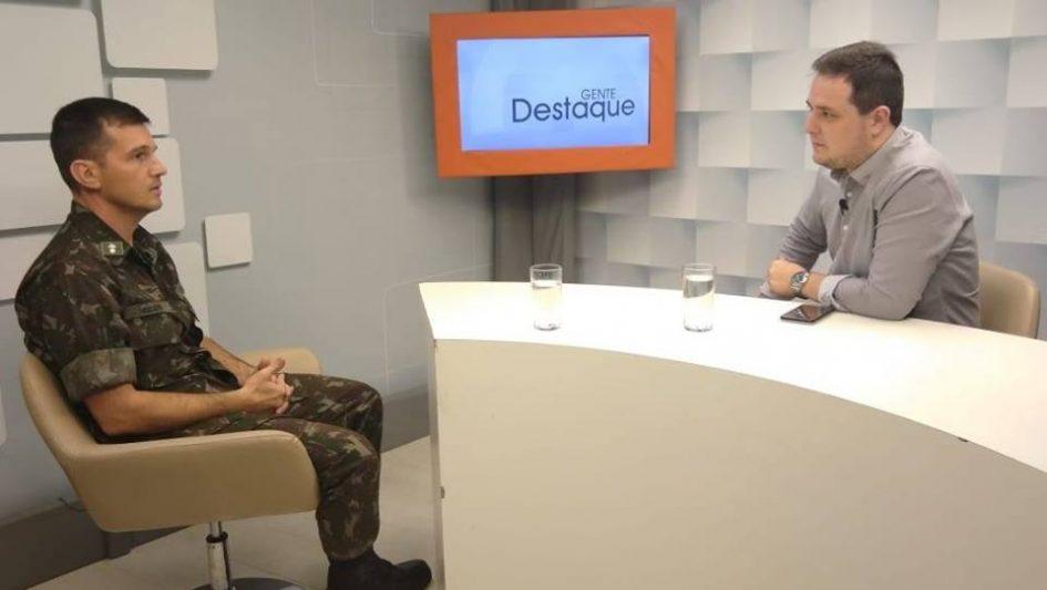 Gente em Destaque entrevista o novo comandante do Tiro de Guerra de Jacareí