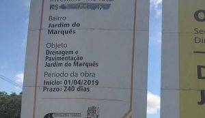 Luís Flávio questiona paralisação de obras de drenagem e pavimentação no Jardim do Marquês