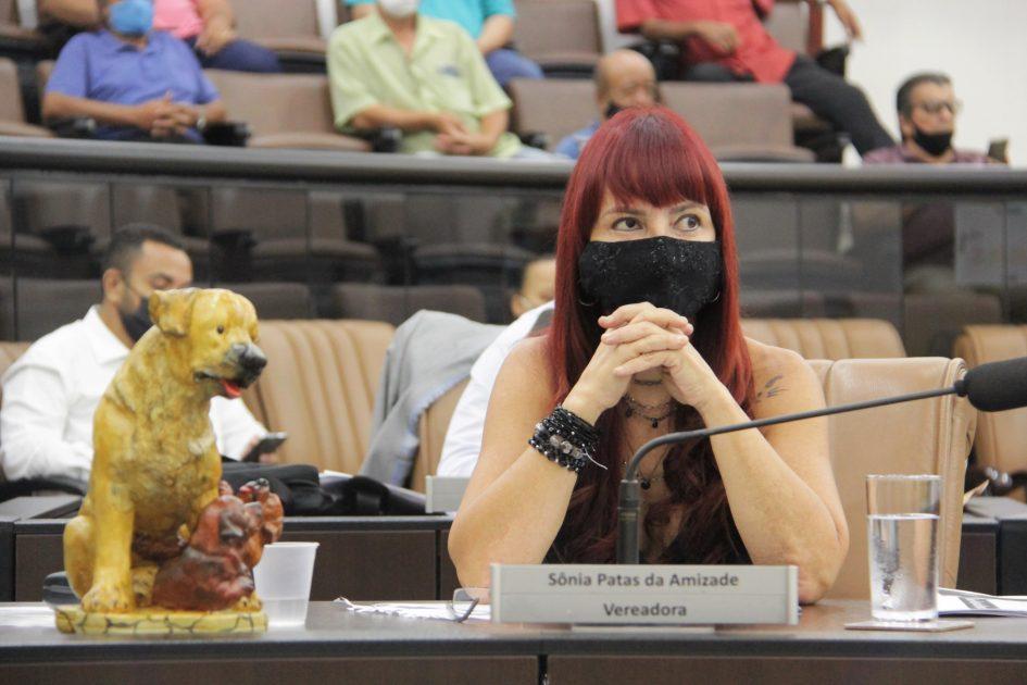 Sônia faz indicação para capina no EducaMais Parque Santo Antônio