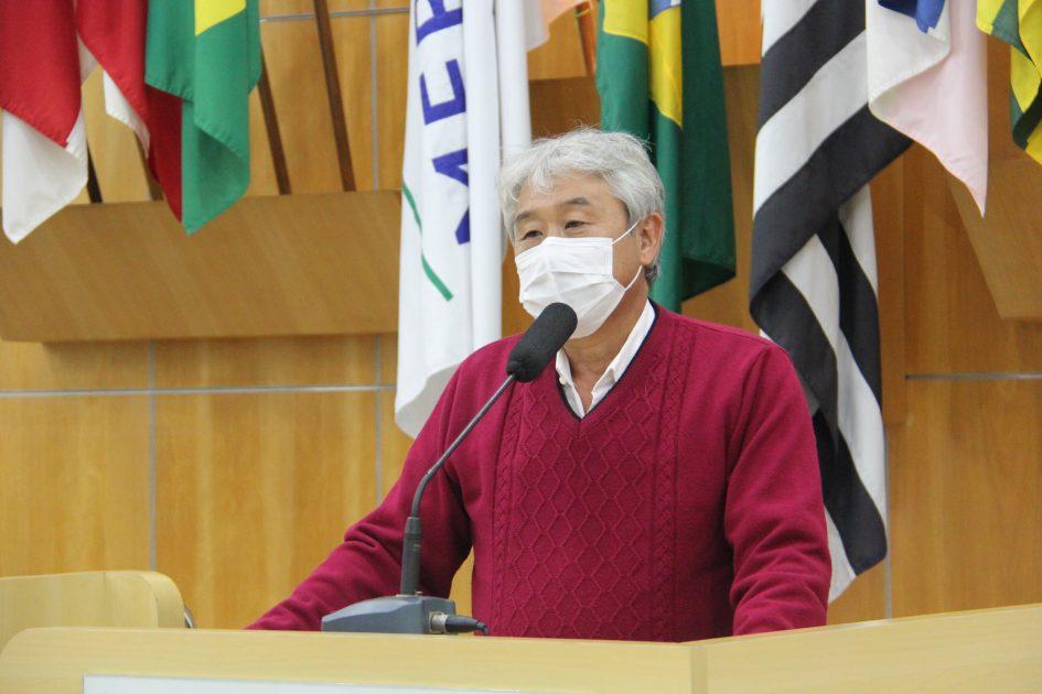 Edgard Sasaki pede solução urgente para drenagem de rua no Jardim Jacinto
